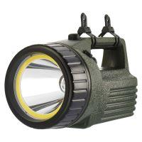 svítilna, halogenová,kryptonová LED žárovka, Pb akumulátor a adaptér do auta,dosvit 180m