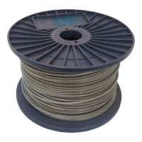 TOPTRADE lano ocelové, pozinkované, v PVC bužírce, na cívce, 7 x 7 drátů, O 4/5 mm x 75 m