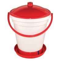 TOPTRADE napáječka plastová, kbelíková, s plovákem, pro kuřata, 18 l
