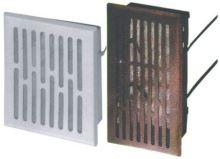 REFLEX mřížka větrací,kovová,hnědá,hranatá,se síťkou,225x155/210x140mm,vývod 200x130mm
