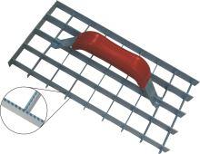 TOPTRADE škrabák omítek, mřížový, ozubený, 290 x 150 mm