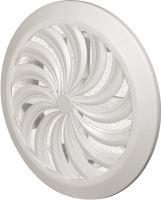 REFLEX mřížka větrací, plastová, bílá, kulatá, vějířové žebrování se síťkou, vývod, O 180/100-150mm