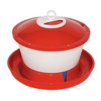 TOPTRADE napáječka plastová, kbelíková, s plovákem, pro slepice, 9 l