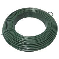 TOPTRADE drát napínací, poplastovaný, zelený, O 3,8 mm / 51 m