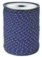 šňůra pletená, PES, s jádrem, O 7 mm x 100 m, Lanex