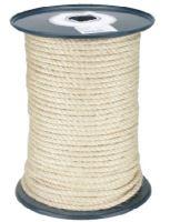 lano stáčené, přírodní, sisál, bez jádra, O 10 mm x 100 m, Lanex