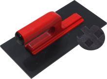 TOPTRADE hladítko ABS, plastové, hrubý rastr, s otevřenou rukojetí,  270 x 130 mm