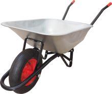 TOPTRADE kolečko stavební, tažená korba pozink, nafukovací kolo, 80L