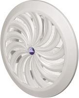 REFLEX mřížka větrací, plastová, bílá, kulatá, vějířové žebrování se síťkou, O 135 / 110 mm