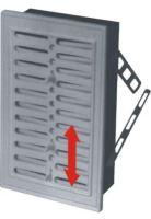 REFLEX mřížka větrací, plastová, bílá, hranatá, bez žaluzie, 230x160/210x140mm, vývod 207x137mmxxx