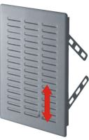 REFLEX mřížka větrací, plastová, bílá, hranatá, bez žaluzie, 160x160/140x140mm, vývod 137x137mm