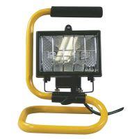 reflektor halogenový, černý, přenosný se stojánkem, teplá bílá, 150 W