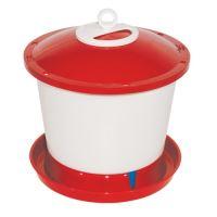 TOPTRADE napáječka plastová, kbelíková, s plovákem, pro kuřata, 9 l