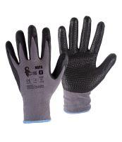 rukavice NAPA, s úpletem, šedo - černé, velikost 7
