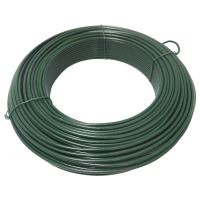 TOPTRADE drát napínací, poplastovaný, zelený, O 4,2 mm / 51 m