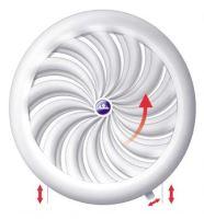 REFLEX mřížka větrací, plastová, bílá, kulatá, vějířové žebrování se síťkou, O 180 / 150 mm