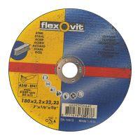 kotouč Flexovit, řezný, na kov,  180 x 22,23 x 3,2 mm, profi