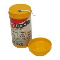 TOPTRADE páska teflonová, v plastovém pouzdře, 0,2 x 2 mm / 150 m