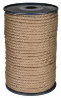 lano stáčené, přírodní s polypropylénem, bez jádra, J-PP, O 8 mm x 100 m, Lanex