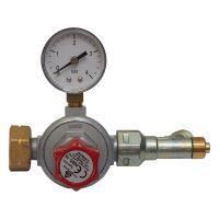 ventil na PB, redukční, s manometrem, 0,5 – 4 bar