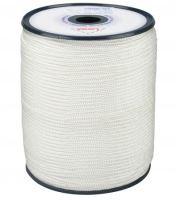 šňůra pletená, PA, s jádrem,  O 6 mm x 100 m, Lanex