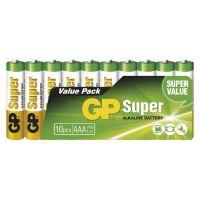 baterie GP Super, LR03, mikrotužka AAA, sada 10 ks, 1,5 V