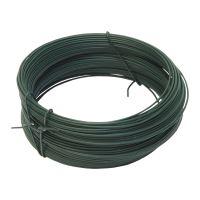 TOPTRADE drát vázací, poplastovaný, zelený, O 0,8 mm / 100 m
