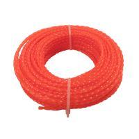 TOPTRADE struna do sekačky, plastová, průřez spirála, 2,4 mm x 15 m