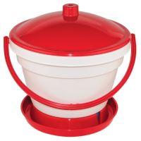 TOPTRADE napáječka plastová, kbelíková, s plovákem, pro kuřata, 12l