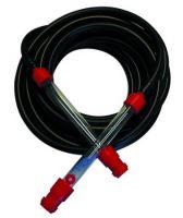 TOPTRADE hadice nivelační, pryžová, černá, sada, 2 ks trubice plast, 15 m