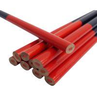 TOPTRADE tužka tesařská, ovál, červenomodrá, sada 12 ks, 180 mm