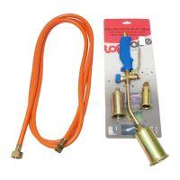 TOPTRADE hořák PB opalovací, hadice 3m, regulátor  tlaku, sada, směšovací komora O 30, 40, 50x450mm, profi