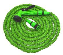 TOPTRADE hadice zahradní, flexi, pistole plastová - rozstřikovač, 7 funkcí, sada,  7,5 / 22 m