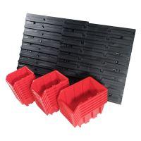 ekobox plastový, sada 24 boxů, 2 panely, 800 x 195 x 400 mm