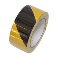 páska výstražná, lepící, PVC, černo – žlutá, 50 mm x 33 m