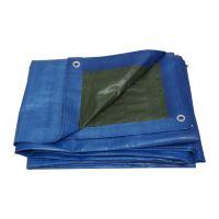 TOPTRADE plachta krycí , modro-zelená, s kovovými oky, 10 x 15 m, 150 g / m2, profi