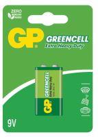baterie GP Greencell, zinko – chloridová, 6F22, plochá, blistr 1 ks, 9 V