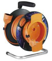 kabel prodlužovací, oranžový, na odvíjecím bubnu, se spojkou, tepelná pojistka, 25m,~230V /16A