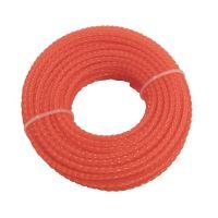 TOPTRADE struna do sekačky, plastová, průřez spirála, 3 mm x 15 m