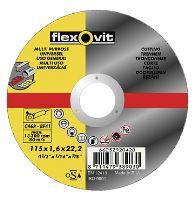 kotouč Flexovit, řezný, univerzální, 125 x 22,23 x 1 mm, profi
